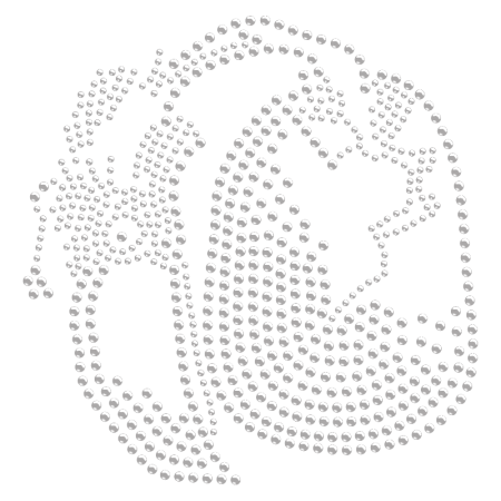 Baby Eagle Rhinestone Iron on Transfer
