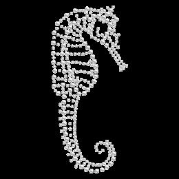 Crystal Sea Horse Hotfix Rhinestone Image
