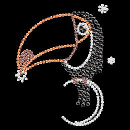 Rhinestone Hornbill Hotfix Design
