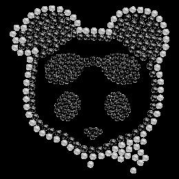 Rhinestone Crystal Panda Iron ons