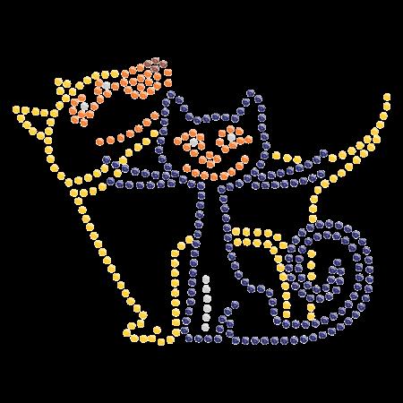 Hotfix Puppy and Kitty Rhinestone Design