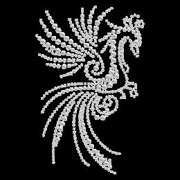 Elegant Phoenix Hotfix Rhinestone Transfer