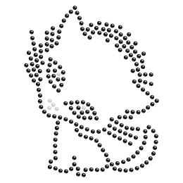 Hot-fix Crystal Baby Kitty Rhinestone Motif