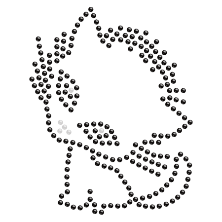 Hot-fix Crystal Baby Kitty Rhinestone Motif