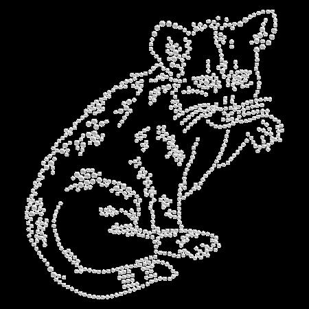 Hot-fix Crystal Greedy Cat Rhinestone Transfer