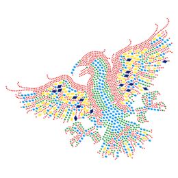 Colorful Hawk Rhinestone Iron ons