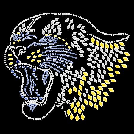 Hotfix Roaring Leopard Nailhead Motif