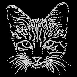 Hot-fix Sweet Kitty Crystal Rhinestone Image