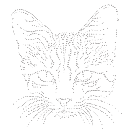 Hot-fix Sweet Kitty Crystal Rhinestone Image