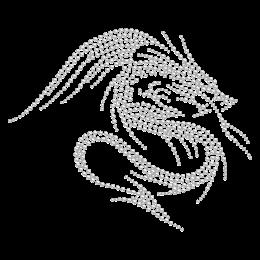 Rhinestone Well-designed Dragon Motif