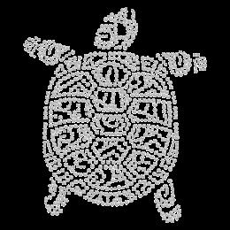 Turtle Rhinestone Hotfix Transfer
