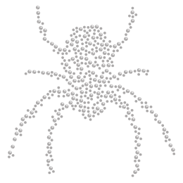 Black Widow Spider Crystal Iron On Rhinestone Motif