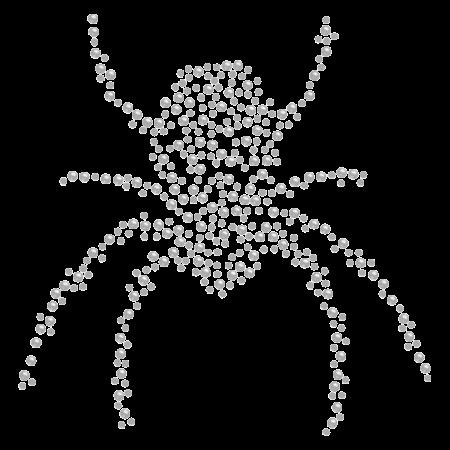 Black Widow Spider Crystal Iron On Rhinestone Motif