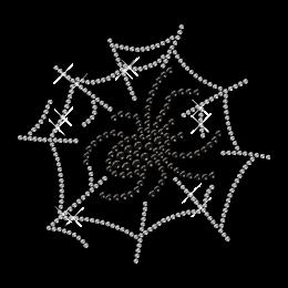 Rhinestone Image Spider n Web Bling Iron ons