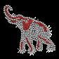 Shining Rhinestone Elephant Iron on Transfer Motif for Clothes