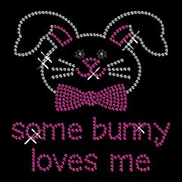 Cute Rhinestone Bunny Head Iron on Transfer Motif for Clothes