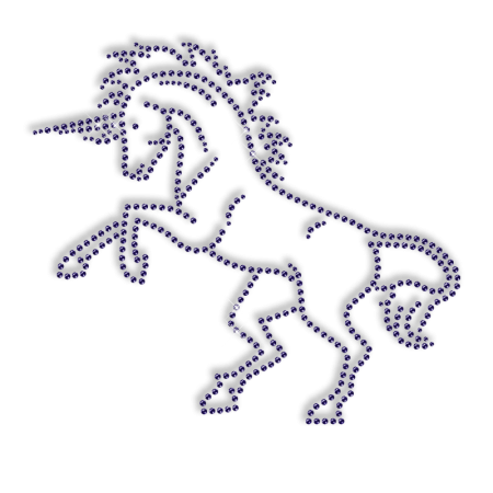 Rhinestone Unicorn Iron on Transfer Motif for Clothes
