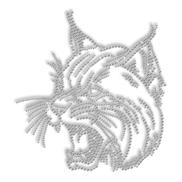 Shinning Rhinestone Wild Cat Iron on Transfer Design for Clothes