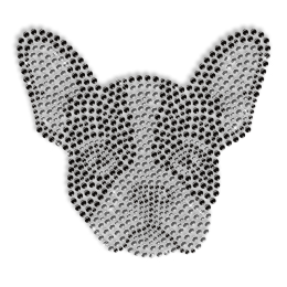 Sparkling Rhinestone Dog Head Iron on Transfer Design for Shirts