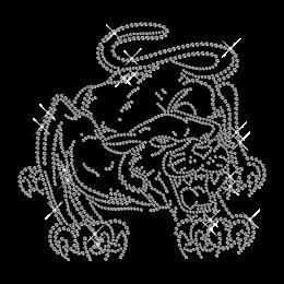 Shining Crystal Rhinestone Leopard Iron on Transfer Motif for Clothes