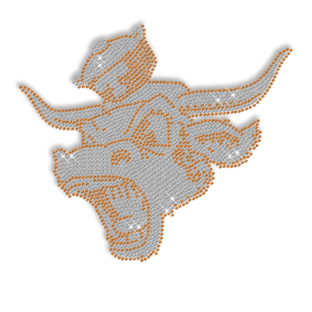 Rhinestone Design Hotfix Bull Transfer