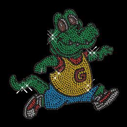 Rhinestone Crocodile Hotfix Bling Custom Transfer