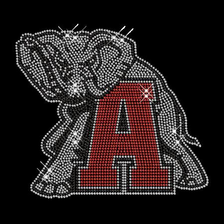 Rhinestone Hotfix Elephant Pattern Transfer