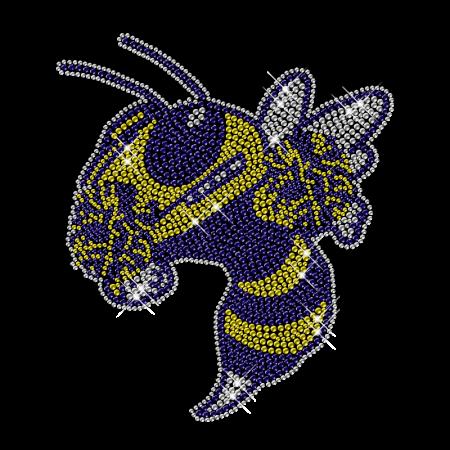 Iron on Mascot Bee Diamante Motif