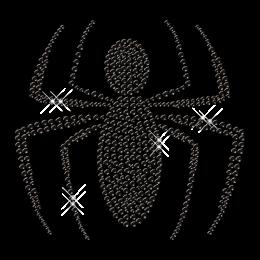 Black Crystal Spider Iron on Transfer