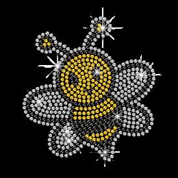 Cheap Sparkling Rhinestone Yellow Bee Hotfix Transfer Pattern