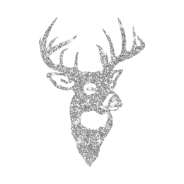 Sparkle Glitter White Elk Hotfix Transfer Design