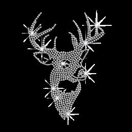 Sparkle Crystal Elk Rhinestone Hotfix Transfer Motif