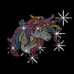Lovely Unicorn Rhinestud Hoftix Design