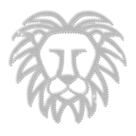Customized Crystal Lion Iron Rhinestone Motif for Clothes