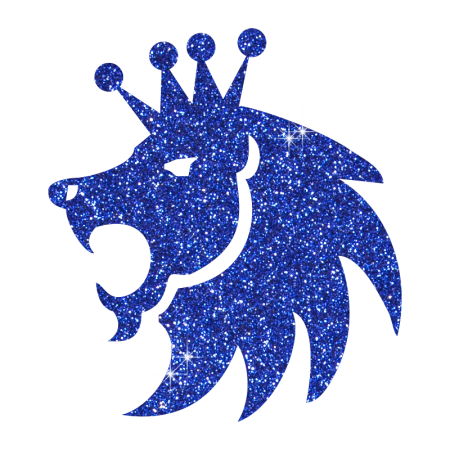 Custom Glitter Iron ons Blue Lion King for Garments