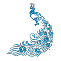 Exquisite Silhouette of Blue Peacock Hotfix Bling Motif