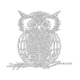 Crystal Owl Hot-fix Iron-on Rhinestone Transfer