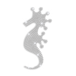 Crystal Seahorse Iron on Rhinestone Transfer
