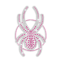 Pink & Crystal Spider Iron-on Rhinestone Transfer Design