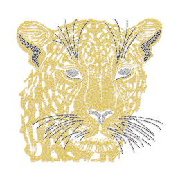Queenly Lioness Iron-on Rhinestone Transfer