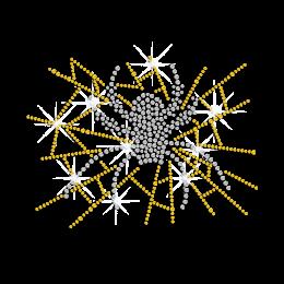 Crystal Spider Hotfix Rhinestone Motif