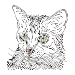 Professional Cat Design Iron-on Rhinestone Transfer