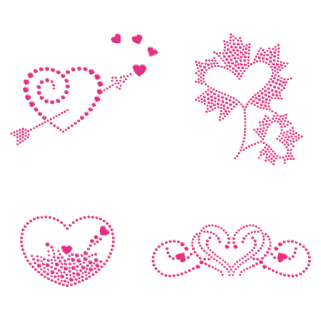 Adorable Pink Heart Iron on Design for Clothing