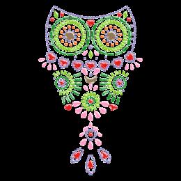 Hot-fix Adorable Owl Nailhead Transfer