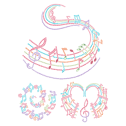Dulcet Musical Notation Nailhead Motif