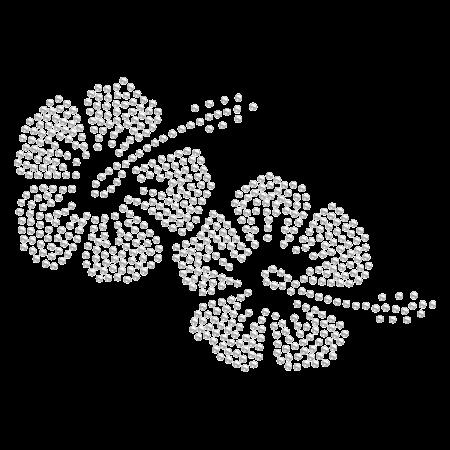 Iron on Crystal Beach Flower Rhinestone Pattern