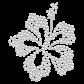 Rhinestone Iron on Simple Crystal Beach Flower Motif