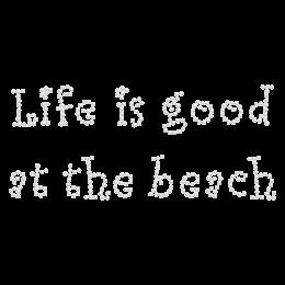 Hot-fix Beach Words Rhinestone Design