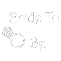 Rhinestone Bride to be with Diamond Hotfix Motif