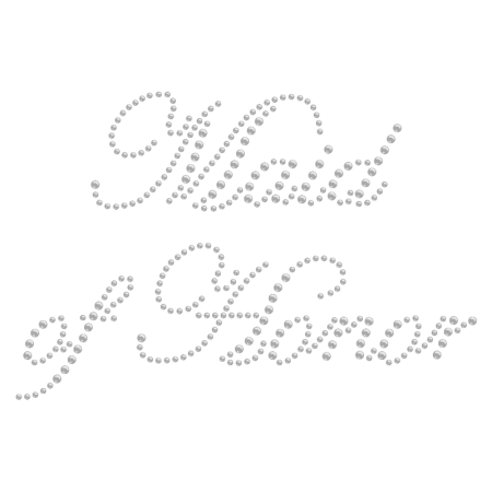 Simple Crystal Maid of Honor Rhinestone Iron ons